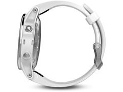 Garmin Fenix 5S - Silver with Carrara white band click to zoom image
