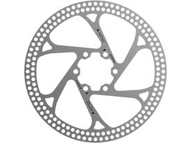 Aztec Stainless steel fixed disc rotor with circular cut outs - 160 mm