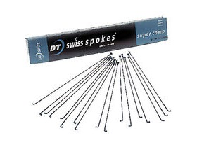 DT Swiss Super Comp black spokes 14 16 15 g 2 1.7 1.8 mm Box 72