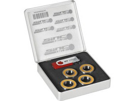 DT Swiss Set of 4 SINC ceramic bearings for RC rim brake wheels and 240 non-disc hubs.
