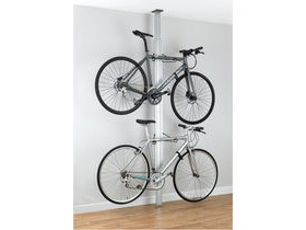 GEAR UP Bua Aluminium Floor-To-Ceiling 2 To 4-Bike Rack Silver
