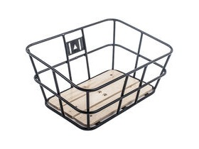 M-Part Portland ubular metal basket with wooden base