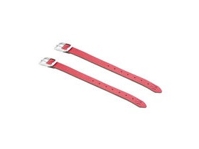 M-Part Leather basket straps, high quality, universal fit Red