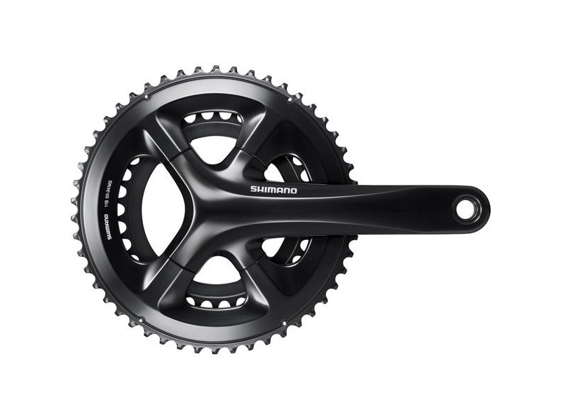 Shimano 105 FC-RS510 double chainset, 50/34T, for 135/142 mm axle, 172.5 mm, black click to zoom image