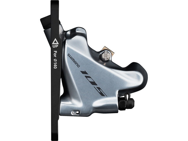Shimano 105 BR-R7070 105 flat mount calliper, without rotor, for 140/160 mm, front, silver click to zoom image