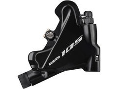 Shimano 105 BR-R7070 105 flat mount calliper, without rotor or adapters, rear, black