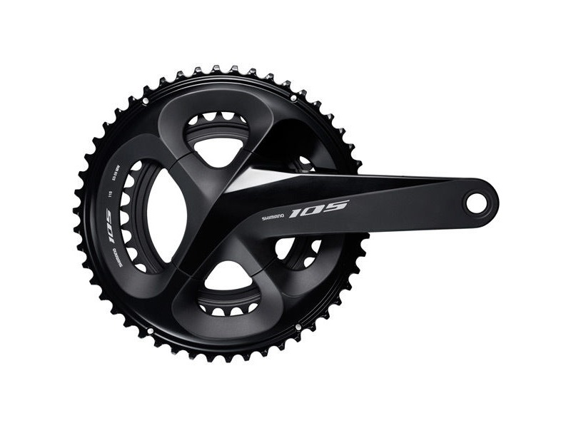 Shimano 105 FC-R7000 105 double chainset, HollowTech II 165 mm 50 / 34T, black click to zoom image