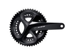 Shimano 105 FC-R7000 105 double chainset, HollowTech II 165 mm 52 / 36T, black
