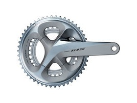 Shimano 105 FC-R7000 105 double chainset, HollowTech II 170 mm 53 / 39T, silver