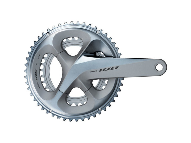 Shimano 105 FC-R7000 105 double chainset, HollowTech II 172.5 mm 53 / 39T, silver click to zoom image