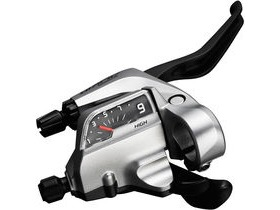 Shimano Alivio ST-T4000 Alivio 9-spd Tap Fire Plus for V-brake, 3 finger right hand, silver