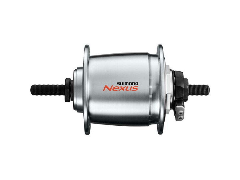 Shimano Nexus DH-C6000-3R Nexus, 6v 3.0w, for roller brake, for 26-28in wheel, 32h, nut type click to zoom image