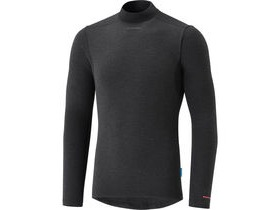 Shimano Clothing Men's Breath Hyper Baselayer, Black