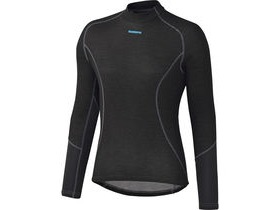 Shimano Clothing W's Breath Hyper Baselayer, Black, Large