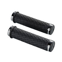 Sram Dh Silicone Locking Grips Black With Double Clamps & End Plugs