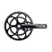 Sram Apex Black/White Chainset Inc Gxp BB  click to zoom image