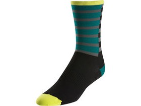 Pearl Izumi Unisex, Elite Tall Sock, Band Stripe Green