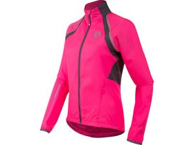Pearl Izumi Women's, Elite Barrier Convertible Jacket, Screaming Pink/Smoked Pearl