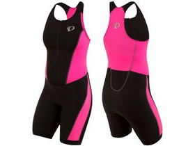 Pearl Izumi Women's, Select Pursuit Tri Suit, Black/Screaming Pink