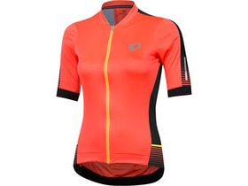 Pearl Izumi Women's ELITE Pursuit Speed SS Jersey Fiery Coral Diffuse