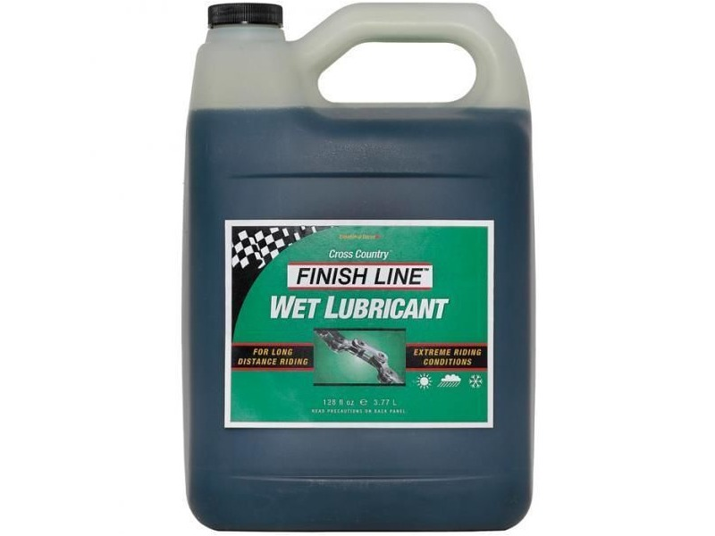 Finish Line Cross Country Wet chain lube 1 US gallon / 3.8 litre click to zoom image