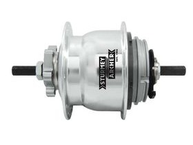 Sturmey Archer S80 8sp Gear Hub, 8spd Alloy with IS disc brake mount. 135mm O.L.D. inc. Shifter