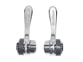 Sunrace R80 Downtube Shifters, Alloy, Clamp-On (28.6mm) Downtube Fitting, 8sp RH, Friction LH