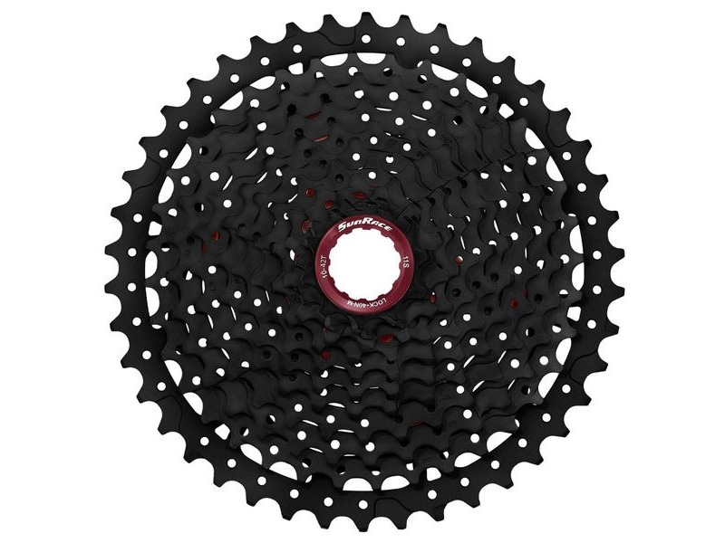 Sunrace MX8 11sp Index Shimano/SRAM - Fluid drive+ cogs, Alloy spacers & Lockring, 11-42T click to zoom image