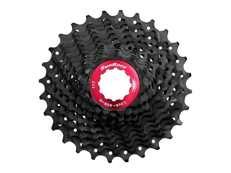 Sunrace RX1 11spd Index Shimano/SRAM - Fluid drive+ cogs, Alloy spacers & Lockring, 11-32T click to zoom image