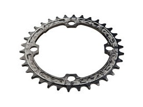 RaceFace Narrow/Wide Single Chainring Black 104x34T