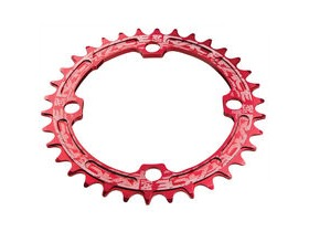 RaceFace Narrow/Wide Single Chainring Red 104x38T