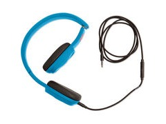 Outdoor Tech Bajas Wired Headphones Electric Blue