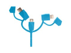 Outdoor Tech Calamari 2.0 3in1 Charge Cable One Size Blue  click to zoom image