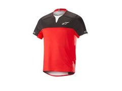 Alpinestars Drop Pro Short Sleeve Jersey Small Black/Red  click to zoom image
