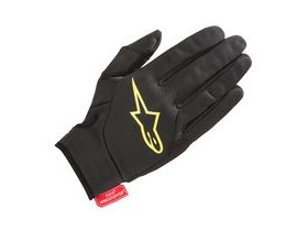 Alpinestars Cascade Gore Windstopper Glove 2018: Black Acid Yellow