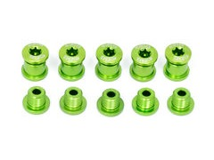 A2Z Chainring Bolts 5 arm Green  click to zoom image