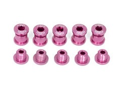 A2Z Chainring Bolts 5 arm Pink  click to zoom image