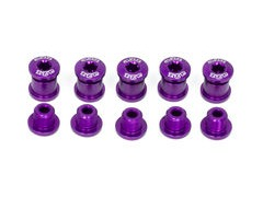 A2Z Chainring Bolts 5 arm Purple  click to zoom image