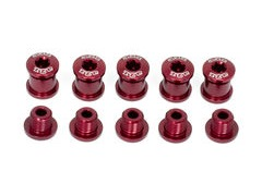 A2Z Chainring Bolts 5 arm Red  click to zoom image