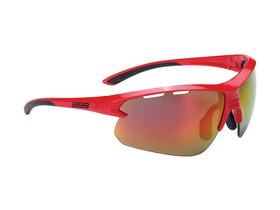BBB Impulse Sport Glasses Red, Black Tip, Red Lens