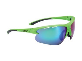 BBB Impulse Sport Glasses Matte Green, Black Tip, Green Lens