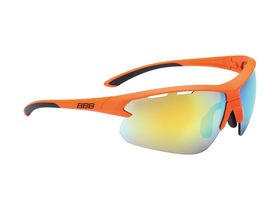 BBB Impulse Sport Glasses Matte Orange, Black Tip, Orange Lens