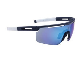 BBB Avenger Sport Glasses Matte Blue, White Tips, Blue Lenses