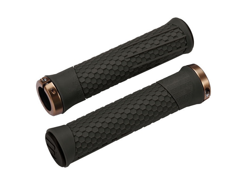 BBB Phyton Grips Moss Green, Copper Lockring click to zoom image