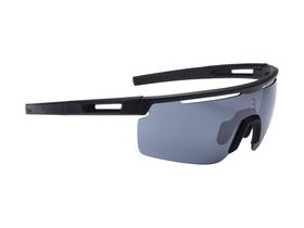 BBB Avenger Sport Glasses Matte Black, Black Tips, Smoke Lenses