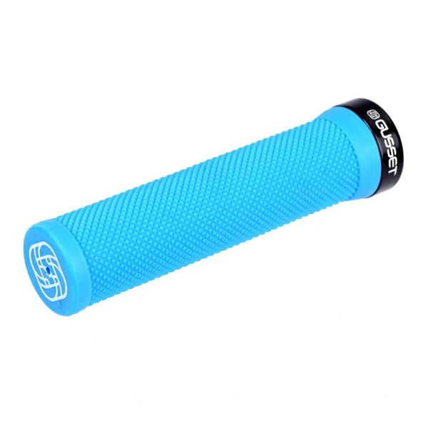 Gusset Single File Lock on Grips Blue 133mm click to zoom image