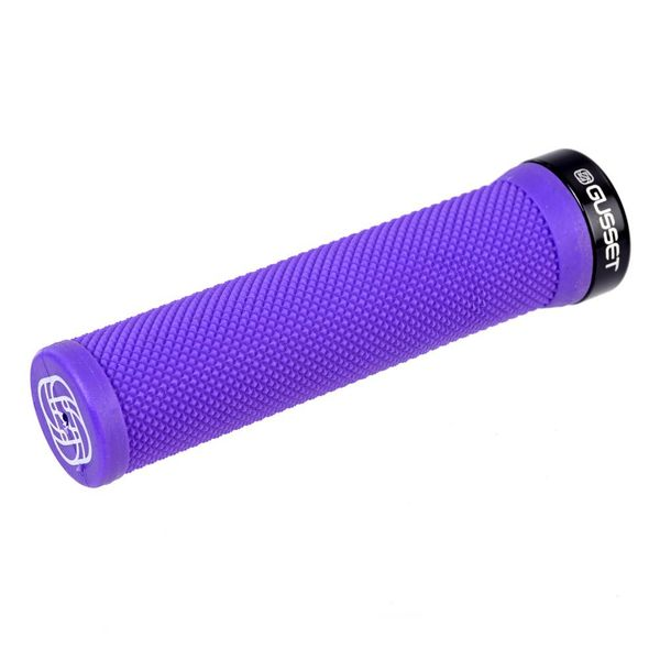 Gusset Single File Lock on Grips Purple 133mm click to zoom image