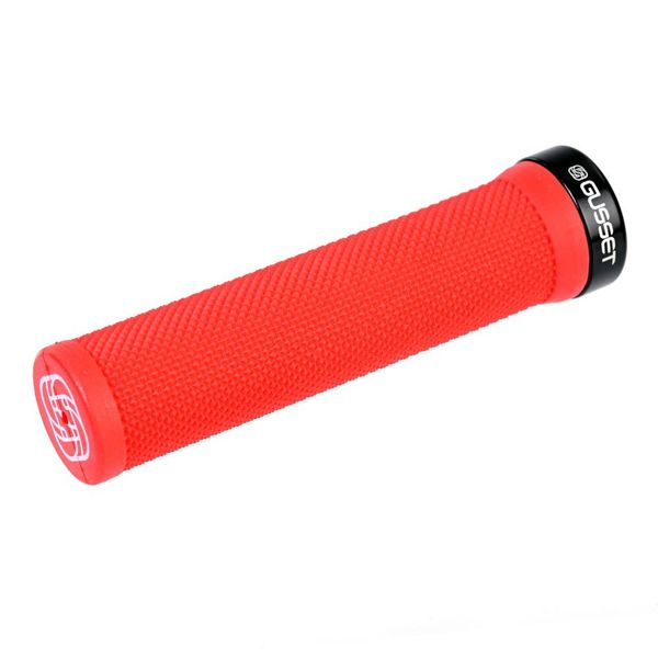 Gusset Single File Lock on Grips Red 133mm click to zoom image