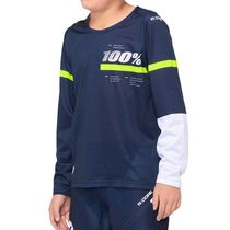 100% R-Core Youth Jersey Dark Blue / Yellow