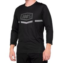 100% Airmatic ¾ Sleeve Jersey Black